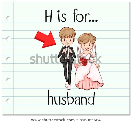 Flashcard letter H is for husband Stock photo © bluering