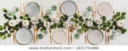 カトラリー 表 レストラン 食品 ガラス 背景 ストックフォト © OleksandrO