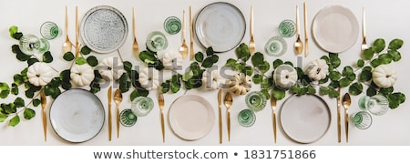 Cubiertos mesa restaurante alimentos vidrio fondo Foto stock © OleksandrO
