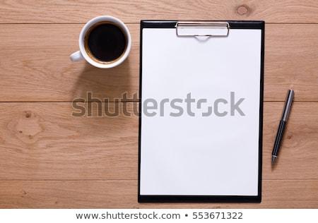 проверить список текста блокнот синий пер Сток-фото © fuzzbones0