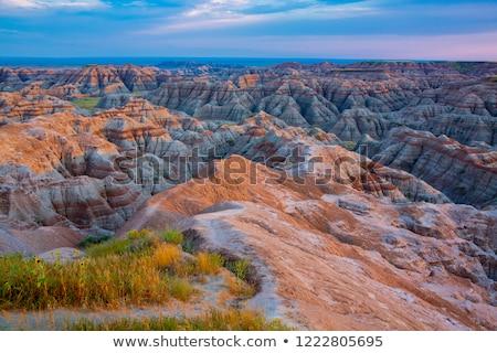 dombok · Dél-Dakota · egyenetlen · terep · park · vízszintes - stock fotó © pictureguy
