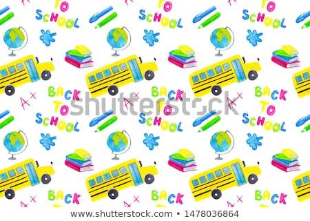 school bus seamless pattern stock photo © pakete