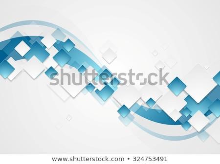 contraste · azul · cinza · ondulado · abstrato · vetor - foto stock © saicle
