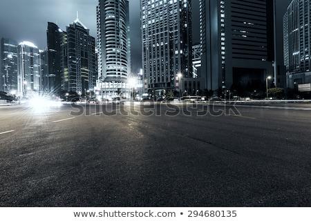 современных · городского · ночному · городу · время · Freeway · движения - Сток-фото © zurijeta