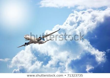 Nagy repülőgép égbolt illusztráció üzlet Föld Stock fotó © bluering