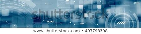 Blauw · abstract · scifi · vector · circuit · board · sjabloon - stockfoto © saicle