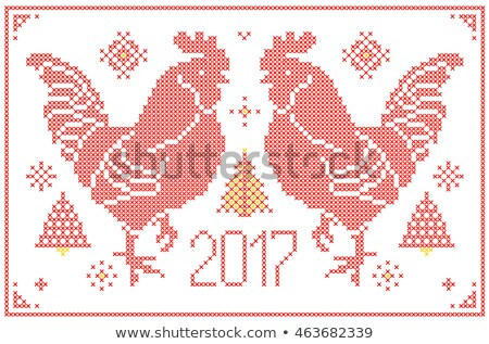 Ano novo tricotado textura neve quadro inverno Foto stock © carodi