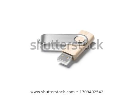 Fehér üres számítógép kulcs oldalnézet 3D Stock fotó © djmilic