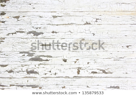 Foto stock: White Peeling Paint Wooden Board