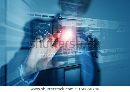 クローズアップ · 女性 · 手 · 白 · マウス · コンピュータ - ストックフォト © stevanovicigor