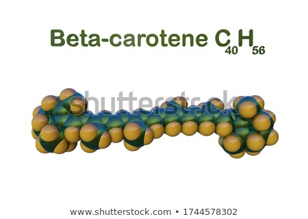3d illustration of Beta carotene molecule, on white background Stock photo © tussik