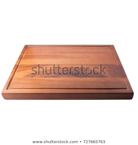 fából · készült · vágódeszka · fogantyú · tiszta · tábla · tárgy - stock fotó © Digifoodstock