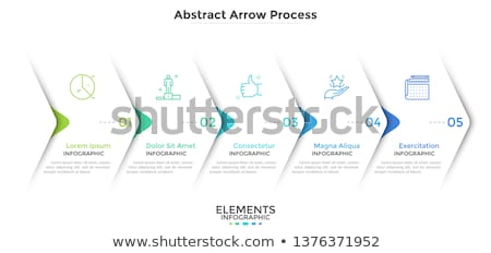 vector abstract boxes infographic template stock photo © orson