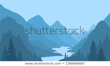 Scene with river and cliff Stock photo © bluering