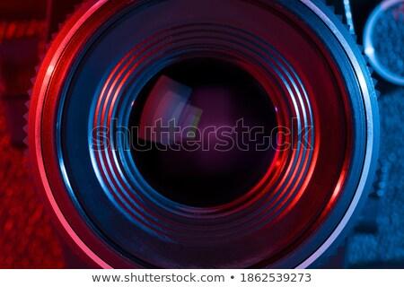Teleobiettivo lenti isolato bianco film vetro Foto d'archivio © gsermek
