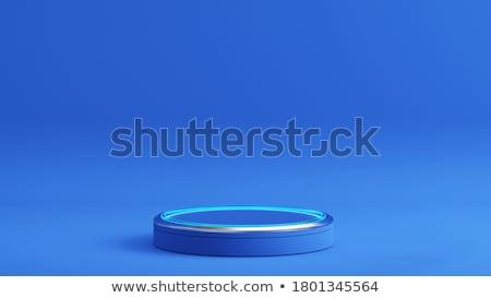 blank metal cylinder podium stock photo © oakozhan