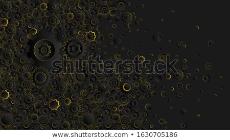 Textile Industry Concept. Golden Cogwheels. 3D. Stock photo © tashatuvango