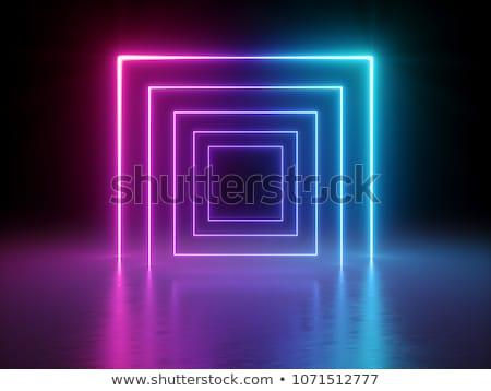 Technologii tunelu niebieski linie projektu Zdjęcia stock © SArts