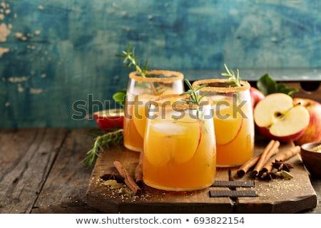 apple juice with cinnamon Stock photo © Lana_M