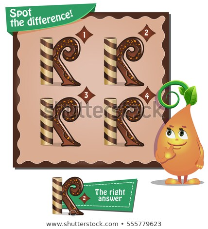 Spot the difference letters k stock photo © Olena