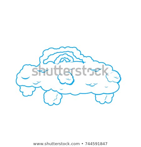 Cloud car isolated. auto from clouds. Heavenly transport. Vector Stock photo © popaukropa