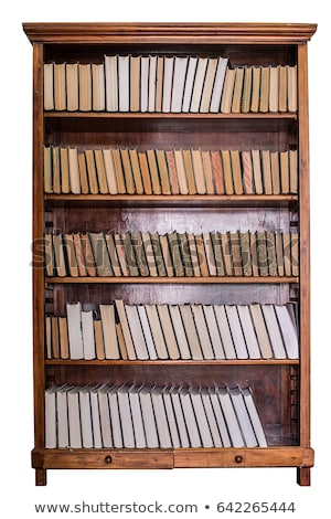 木製 · 棚 · 3dのレンダリング · 孤立した · 白 · オフィス - ストックフォト © valeriy
