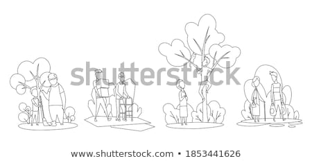 Woman and older man in working situation Stock photo © IS2
