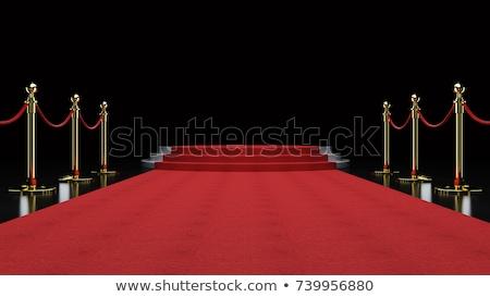 Vörös szőnyeg lépcsősor üres fehér megvilágított pódium Stock fotó © pakete