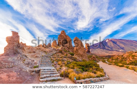 İspanyolca vadi dağ seyahat dağlar arazi Stok fotoğraf © smartin69