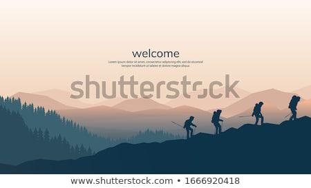 sonbahar · dağ · plato · görmek · dağlar - stok fotoğraf © wildman