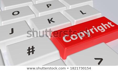 telif · hakkı · hukuk · metin · tokmak · kelime · korumalı - stok fotoğraf © tashatuvango