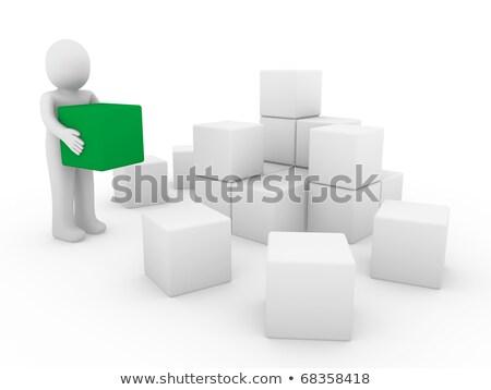 building blocks business team people silhouettes stock photo © krisdog