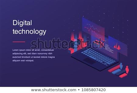 Leszállás oldal laptop üzlet távközlés közelkép Stock fotó © tashatuvango