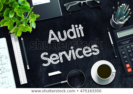 black chalkboard with audit services concept 3d rendering stock photo © tashatuvango