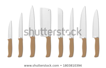 Tablo bıçak ahşap işlemek nesne çatal bıçak takımı Stok fotoğraf © Digifoodstock