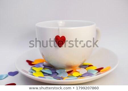 Güzel kırmızı kalpler dizayn kalp kart Stok fotoğraf © SArts