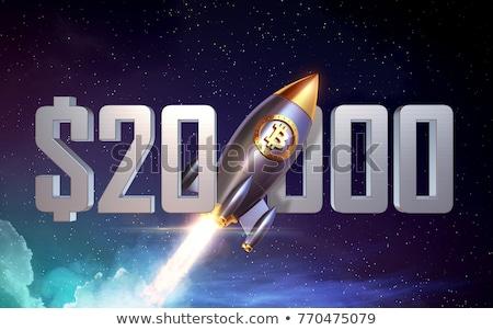 Bitcoin gouden munt symbool elektronische virtueel Stockfoto © stevanovicigor