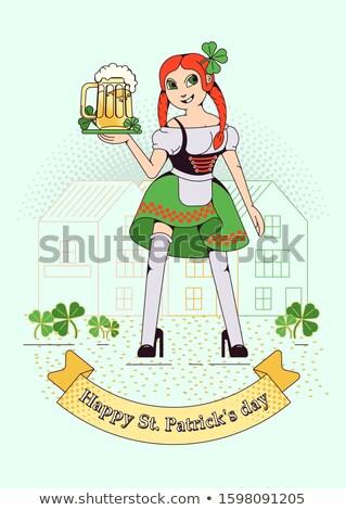 Stock fotó: Bögre · sör · Oktoberfest · karakter · fesztivál · háttér