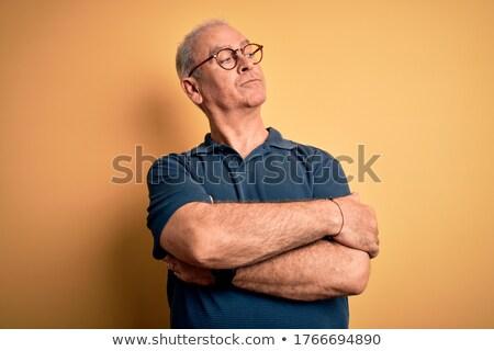 случайный человека рук сложенный очки Сток-фото © feedough