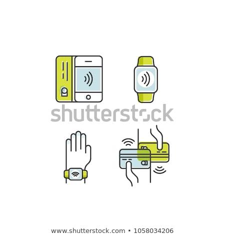 Foto stock: Mão · cliente · pagamento