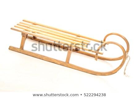 Wooden Decorative Sled Isolated on White background Stock photo © Bozena_Fulawka