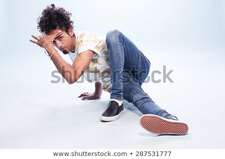 mannelijke · tijdgenoot · hip · hop · danser · denim · kaukasisch - stockfoto © zdenkam