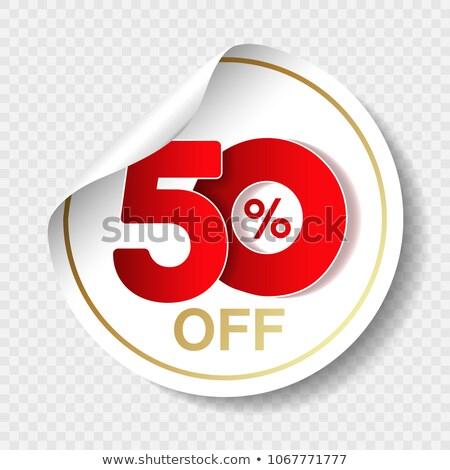 Big Sale Round Vector Web Element Circular Button Icon Design Stock photo © rizwanali3d