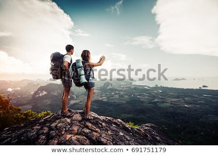 çift resimleri deniz görmek kadın Stok fotoğraf © IS2