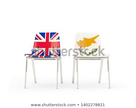 Sandalye bayrak Büyük Britanya Kıbrıs 3d illustration Stok fotoğraf © MikhailMishchenko