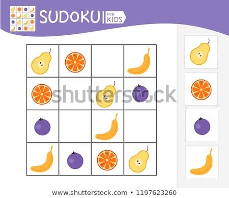 jogo · crianças · frutas · crianças · fotos · atividade - foto stock © Olena