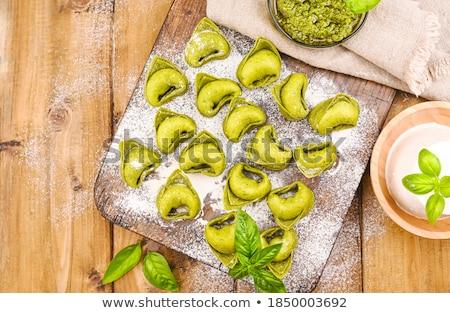 Сток-фото: домашний · сырой · итальянский · продовольствие · Ингредиенты · зеленый