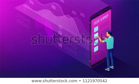 Isométrica dados análise comentários pesquisa grande Foto stock © RAStudio