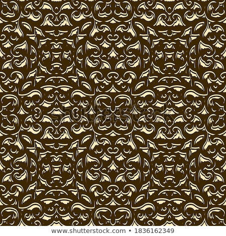 Vector gold crumpled foil seamless background. Stock photo © yopixart