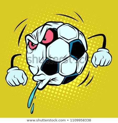 Ventilador ira emociones fútbol balón de fútbol funny Foto stock © rogistok